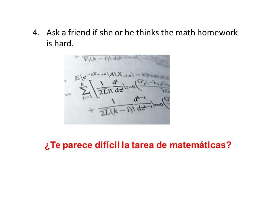 ¿Te parece difícil la tarea de matemáticas