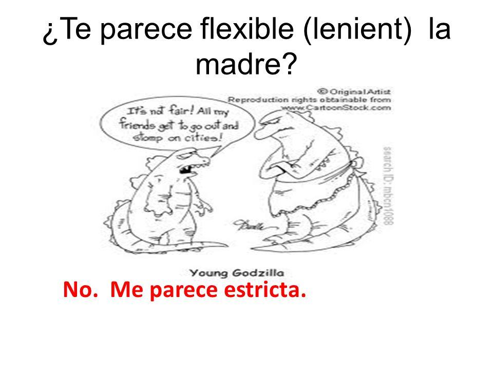 ¿Te parece flexible (lenient) la madre