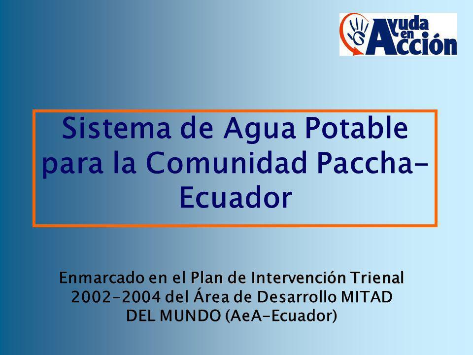 Sistema de Agua Potable para la Comunidad Paccha-Ecuador