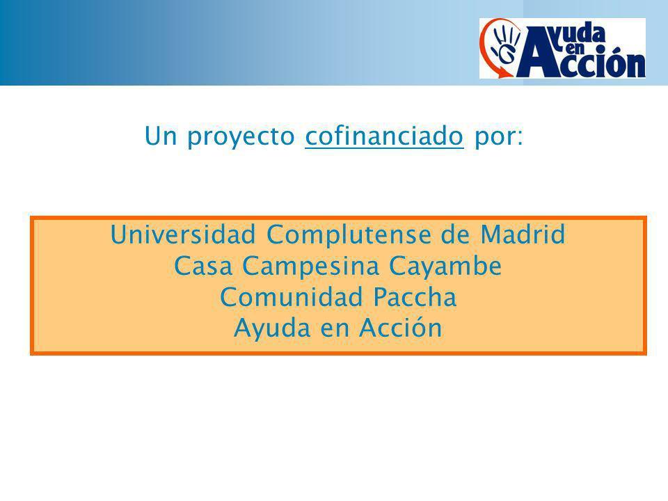 Un proyecto cofinanciado por:
