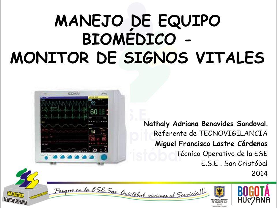 MANEJO DE EQUIPO BIOMÉDICO - MONITOR DE SIGNOS VITALES