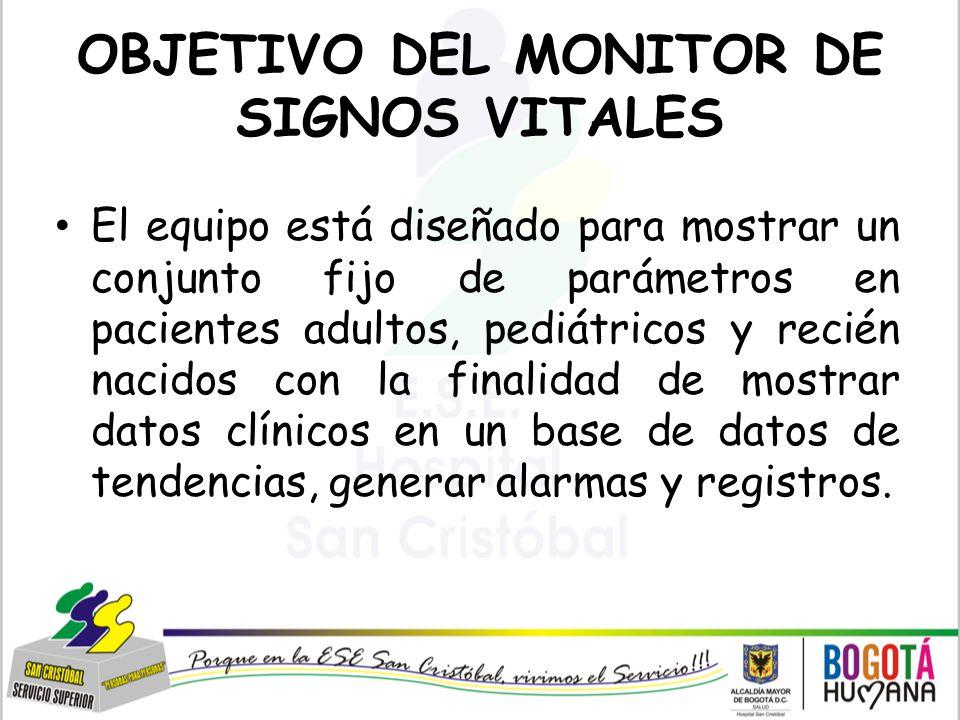 OBJETIVO DEL MONITOR DE SIGNOS VITALES
