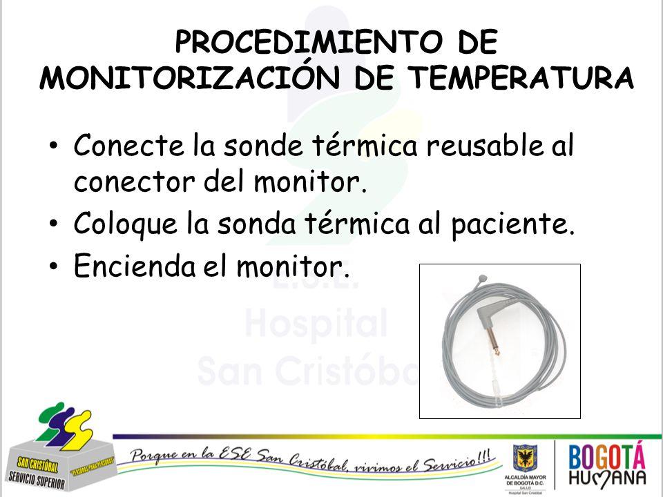 PROCEDIMIENTO DE MONITORIZACIÓN DE TEMPERATURA