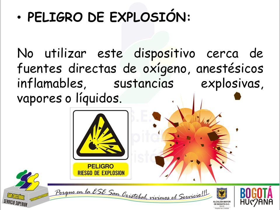PELIGRO DE EXPLOSIÓN: