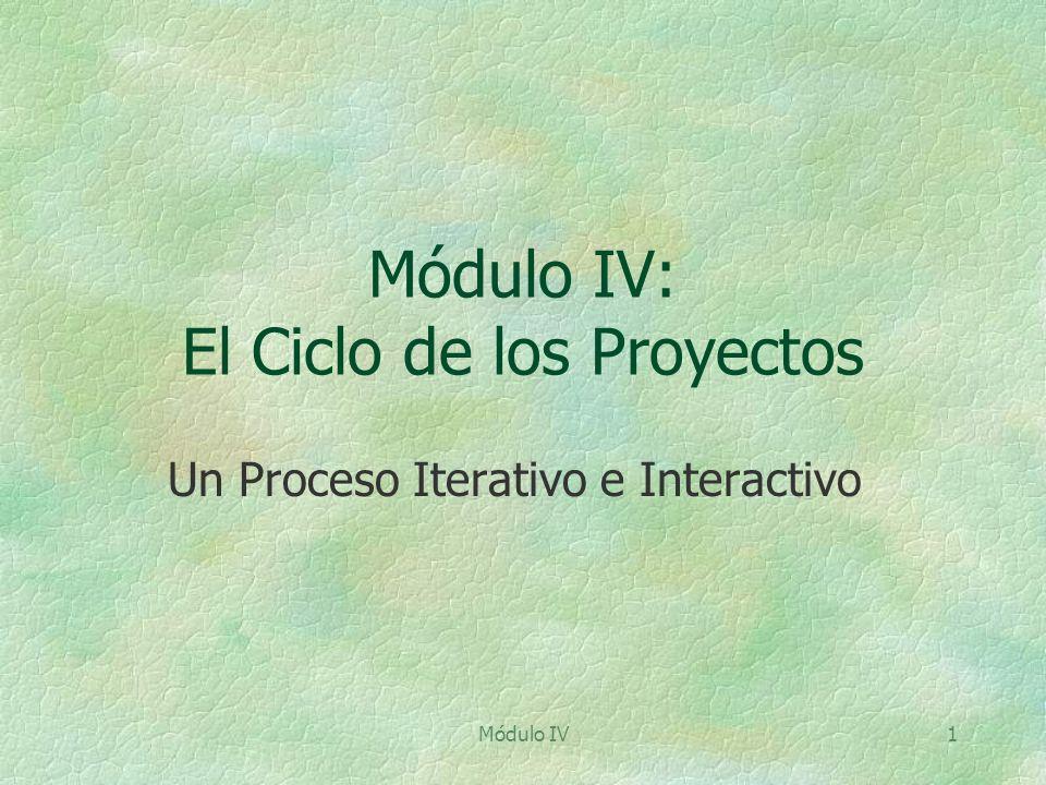 Módulo IV: El Ciclo de los Proyectos