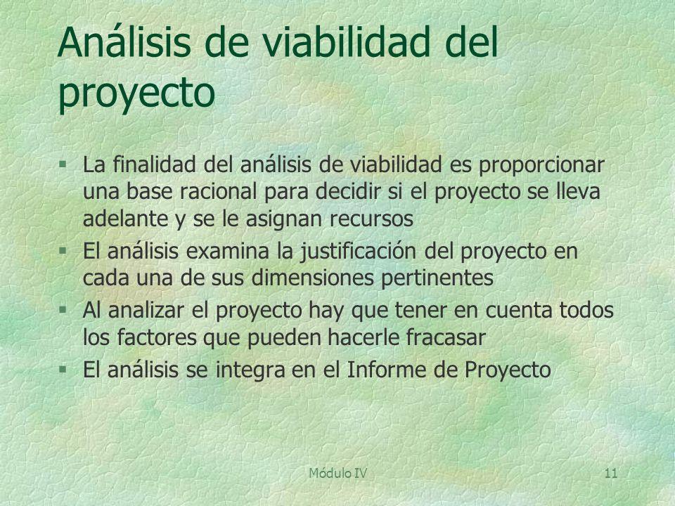 Análisis de viabilidad del proyecto