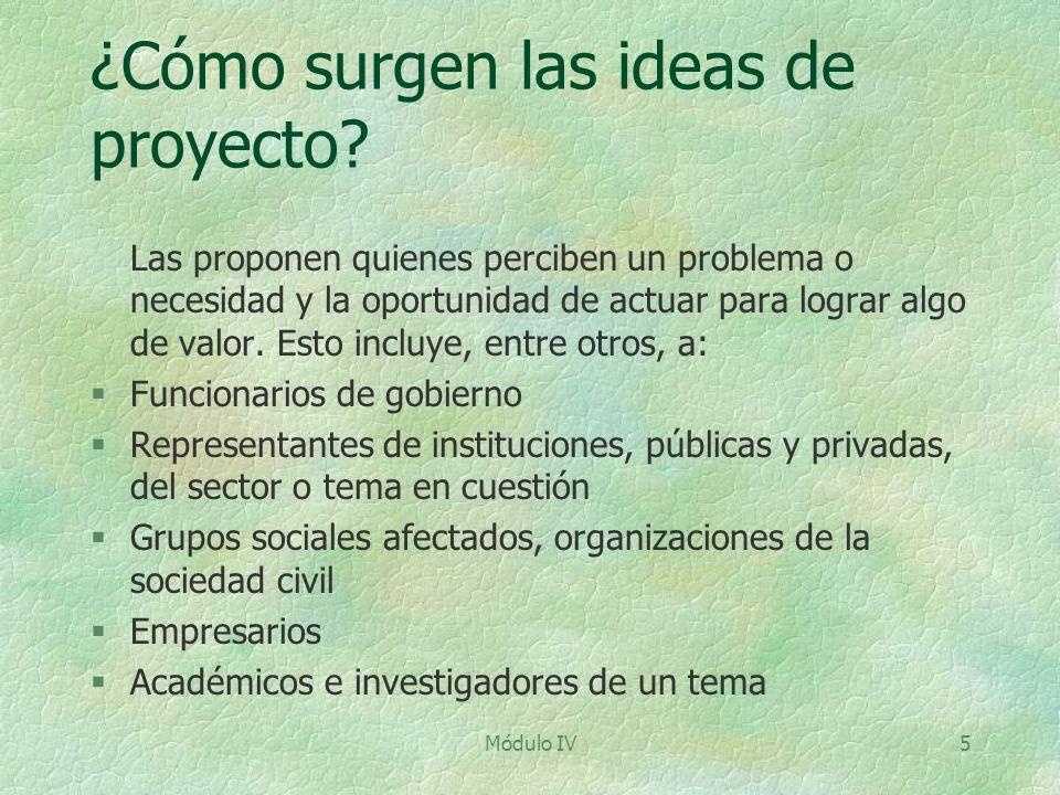 ¿Cómo surgen las ideas de proyecto