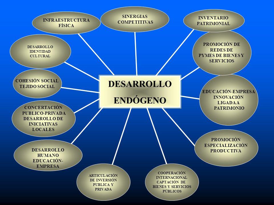 DESARROLLO ENDÓGENO SINERGIAS COMPETITIVAS INVENTARIO INFRAESTRUCTURA