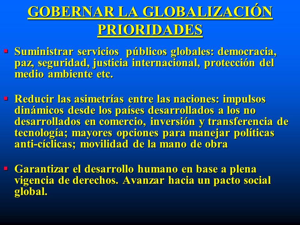 GOBERNAR LA GLOBALIZACIÓN PRIORIDADES