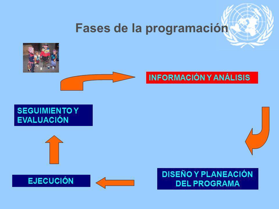 Fases de la programación DISEÑO Y PLANEACIÓN DEL PROGRAMA