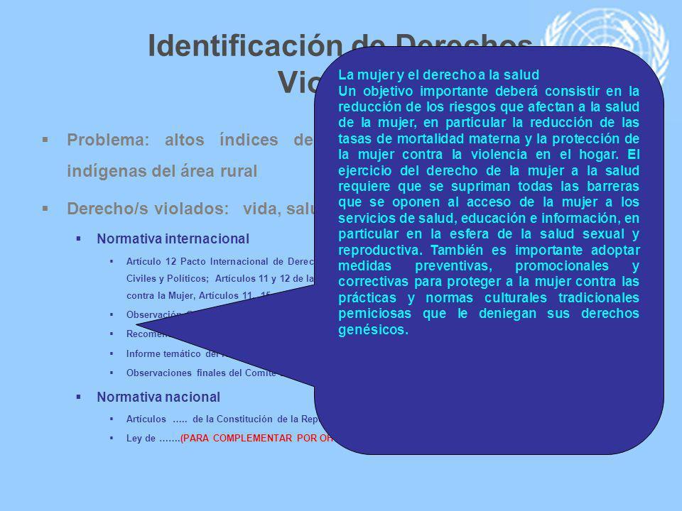 Identificación de Derechos Violados