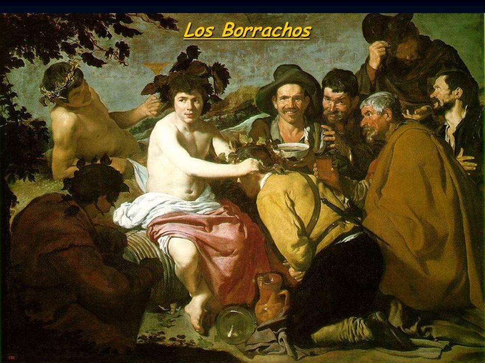 Los Borrachos Baco (dios de vino) triunfa sobre el militario