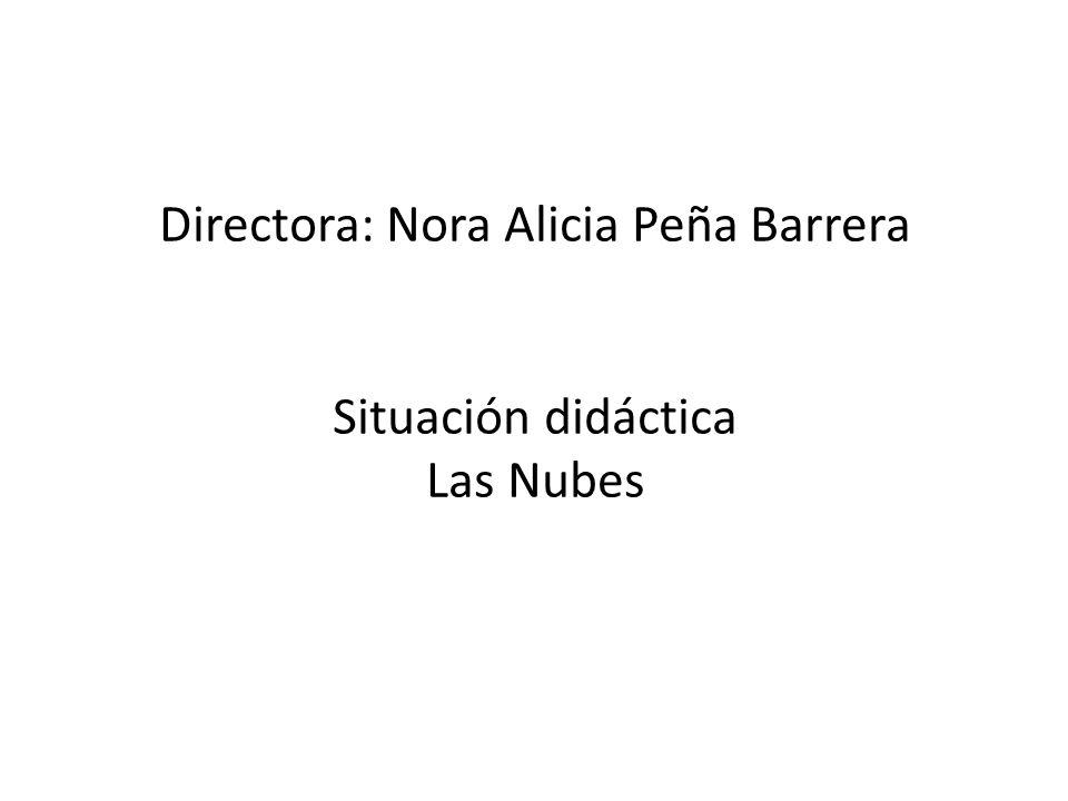 Directora: Nora Alicia Peña Barrera Situación didáctica Las Nubes