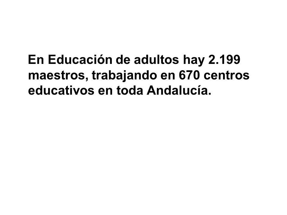 En Educación de adultos hay 2