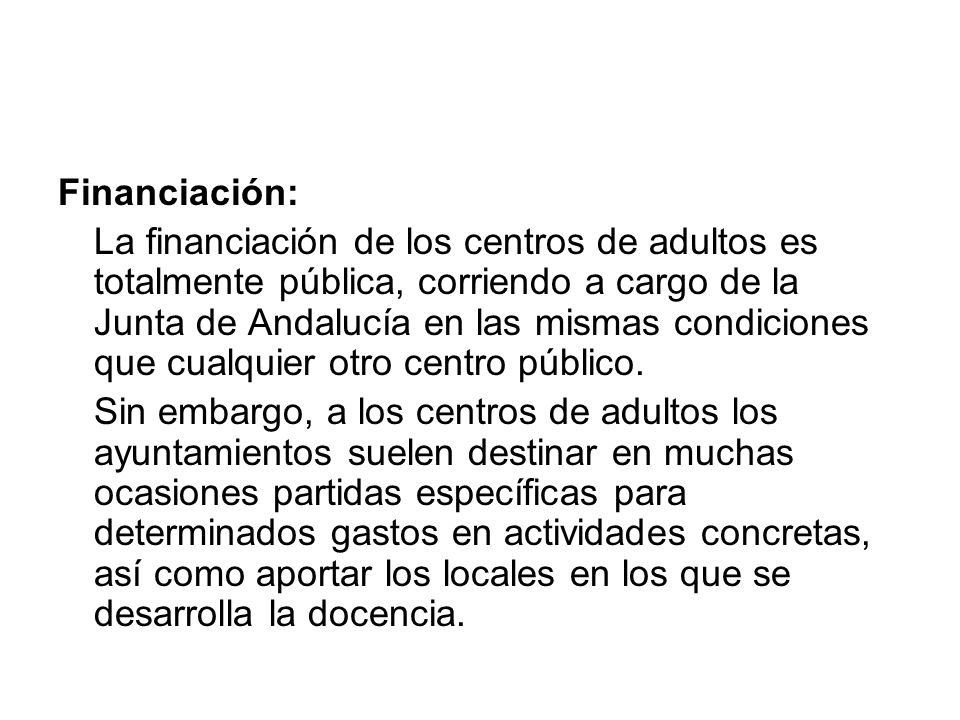 Financiación: