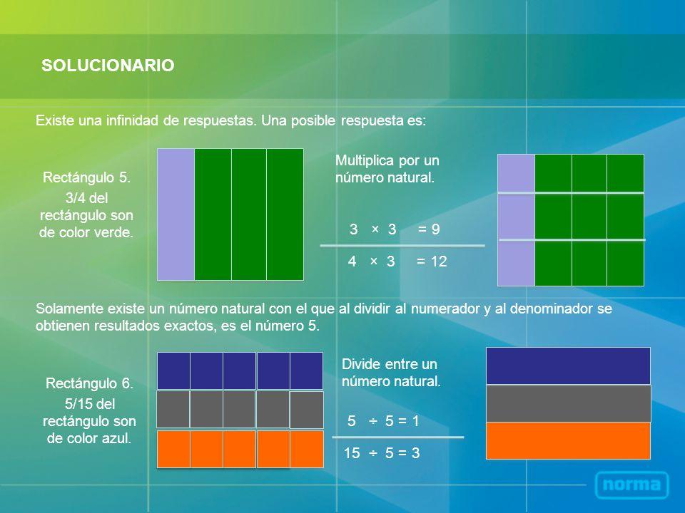 SOLUCIONARIO 3 × 3 = 9 4 × 3 = 12 5 ÷ 5 = 1 15 ÷ 5 = 3