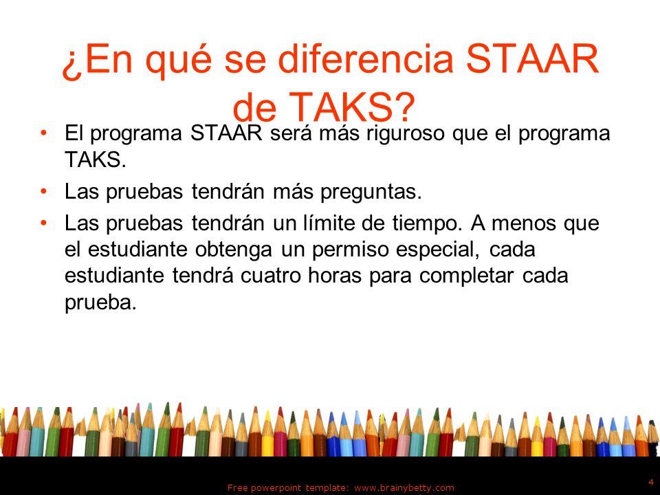 ¿En qué se diferencia STAAR de TAKS