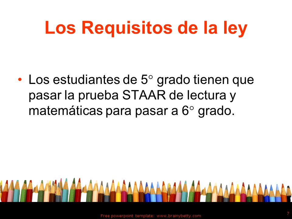 Los Requisitos de la ley