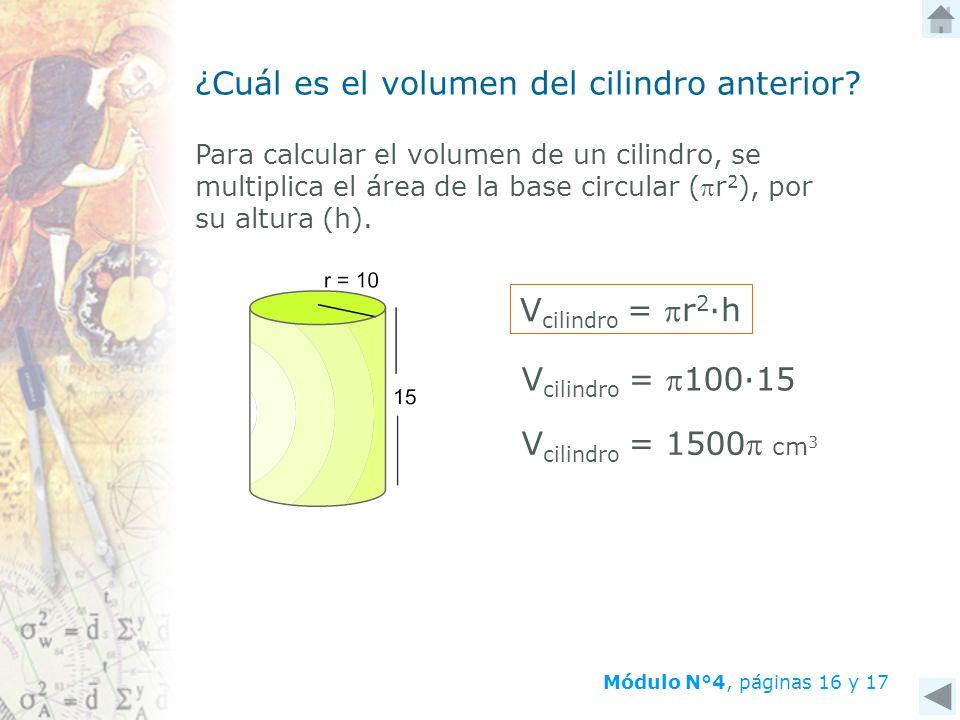 ¿Cuál es el volumen del cilindro anterior