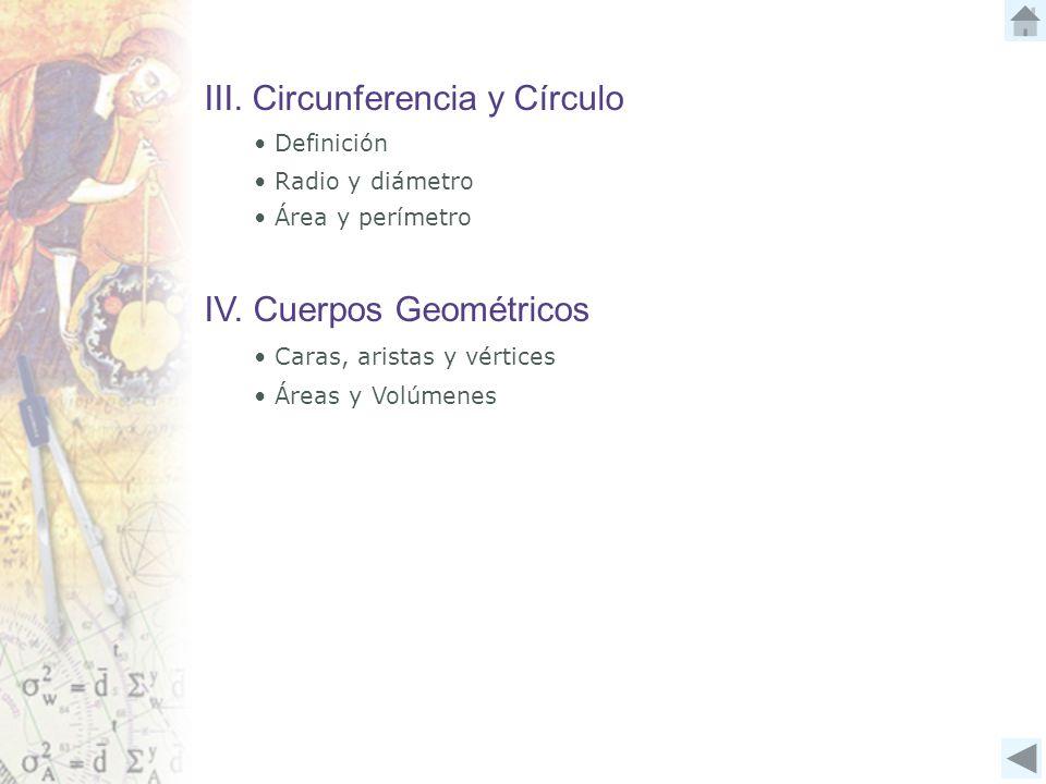 III. Circunferencia y Círculo