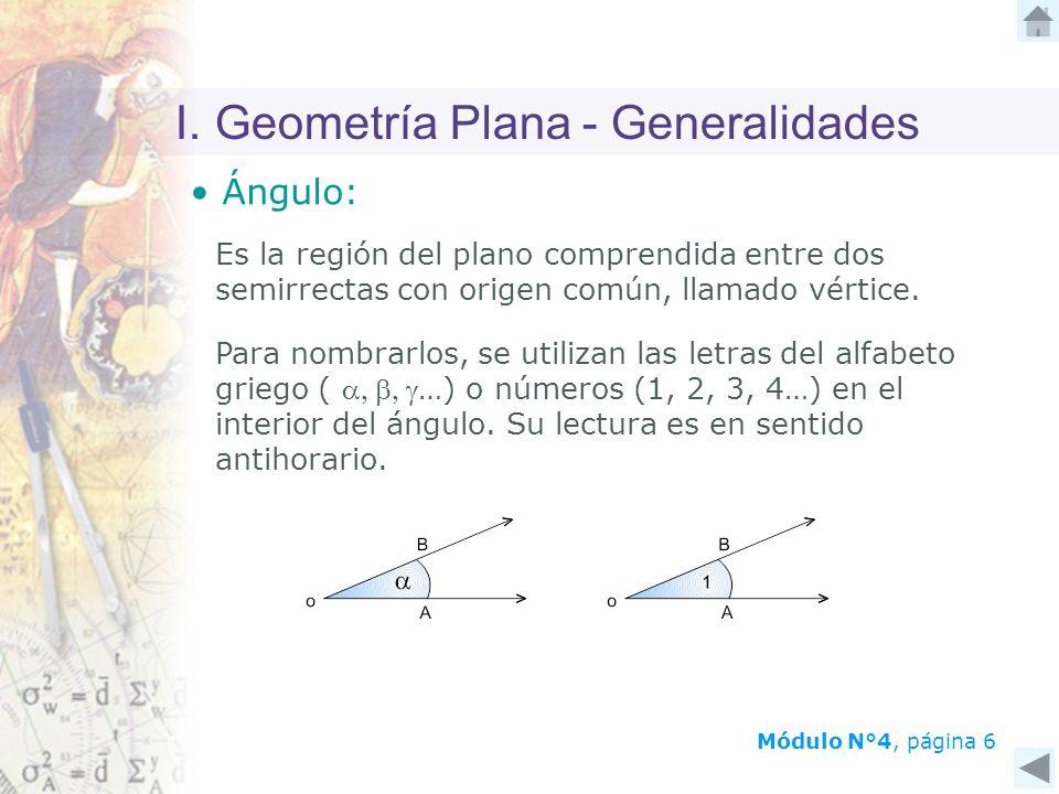 I. Geometría Plana - Generalidades