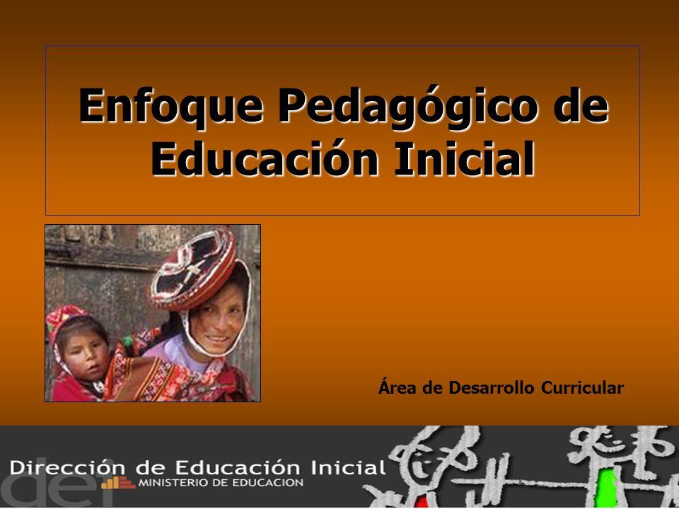 Enfoque pedag gico de educaci n inicial rea de desarrollo for Programa curricular de educacion inicial
