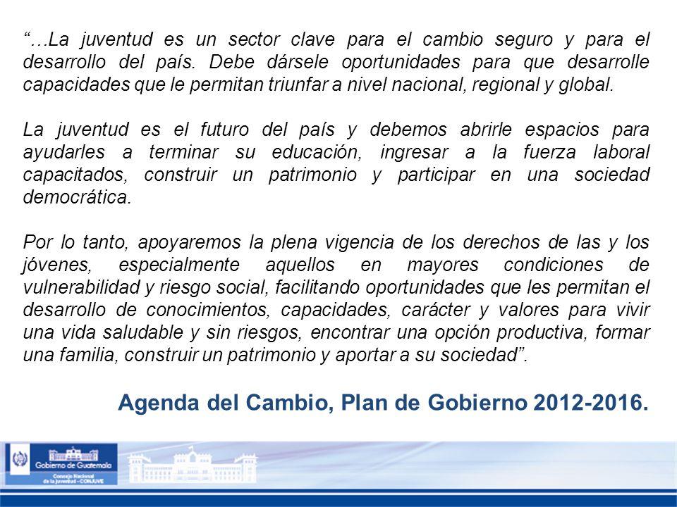 Agenda del Cambio, Plan de Gobierno 2012-2016.