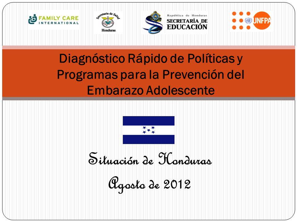 Situación de Honduras Agosto de 2012