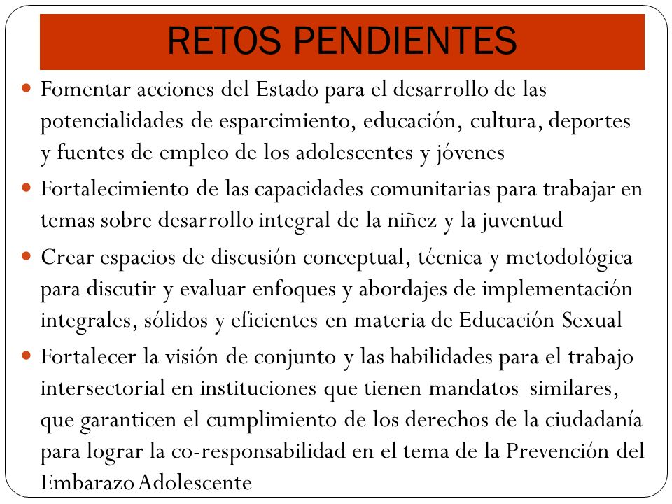 RETOS PENDIENTES