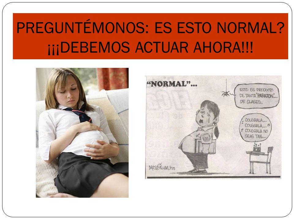 PREGUNTÉMONOS: ES ESTO NORMAL ¡¡¡DEBEMOS ACTUAR AHORA!!!