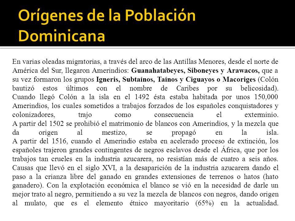 Orígenes de la Población Dominicana