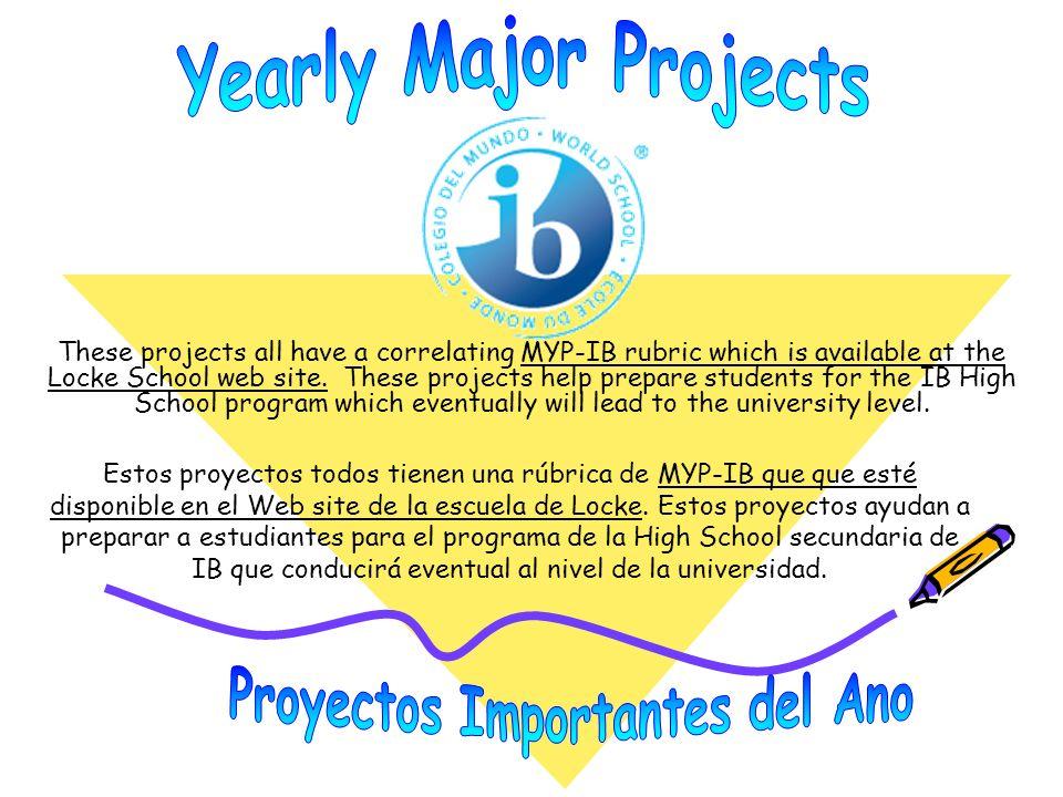 Proyectos Importantes del Ano