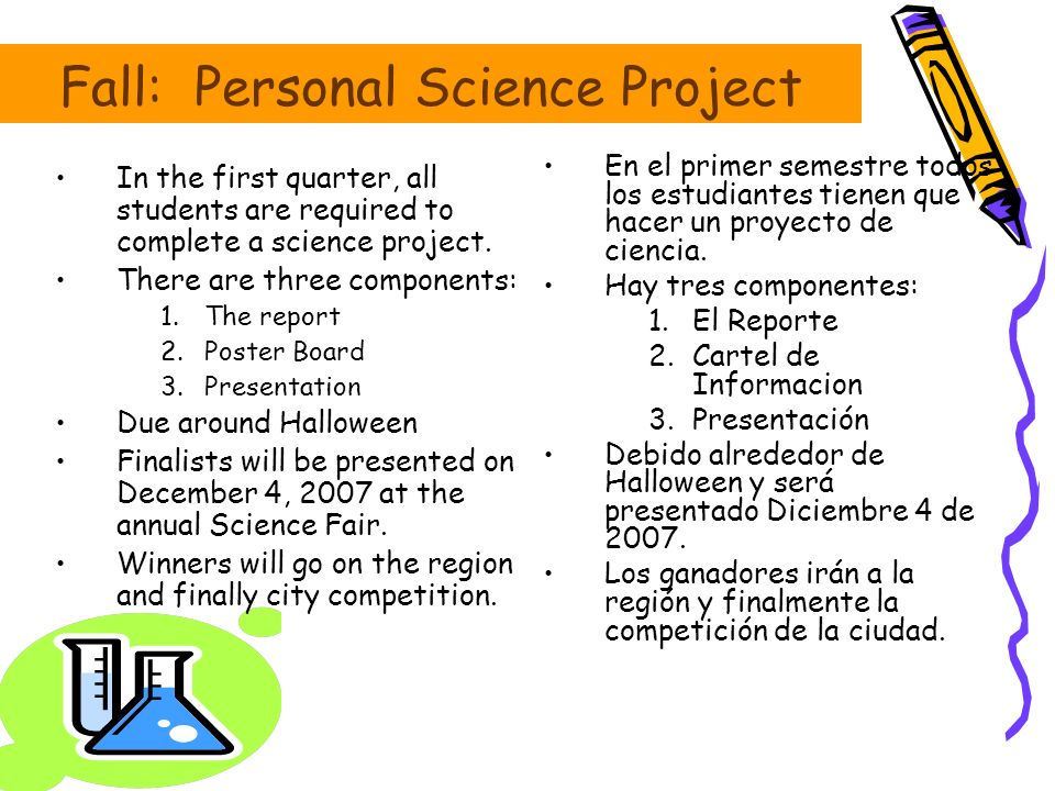 Fall: Personal Science Project