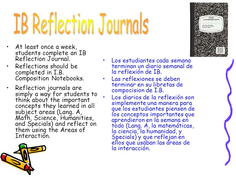 IB Reflection Journals