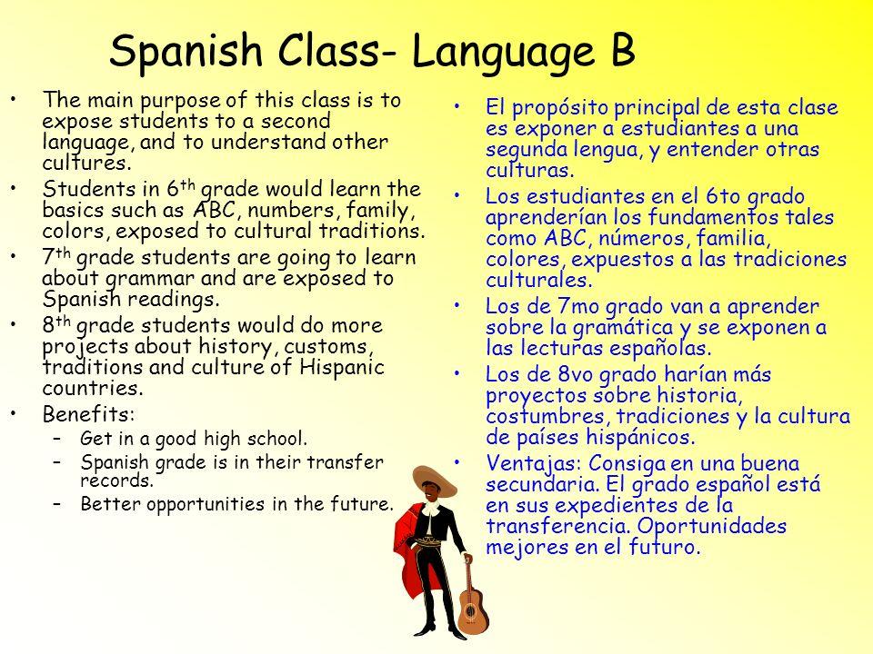 Spanish Class- Language B