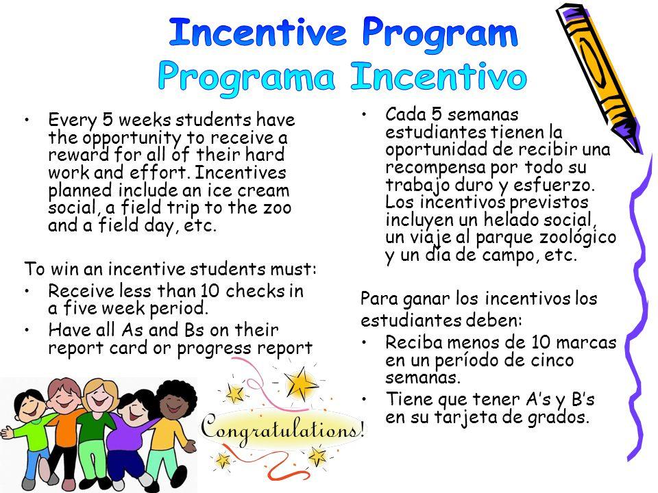 Incentive Program Programa Incentivo