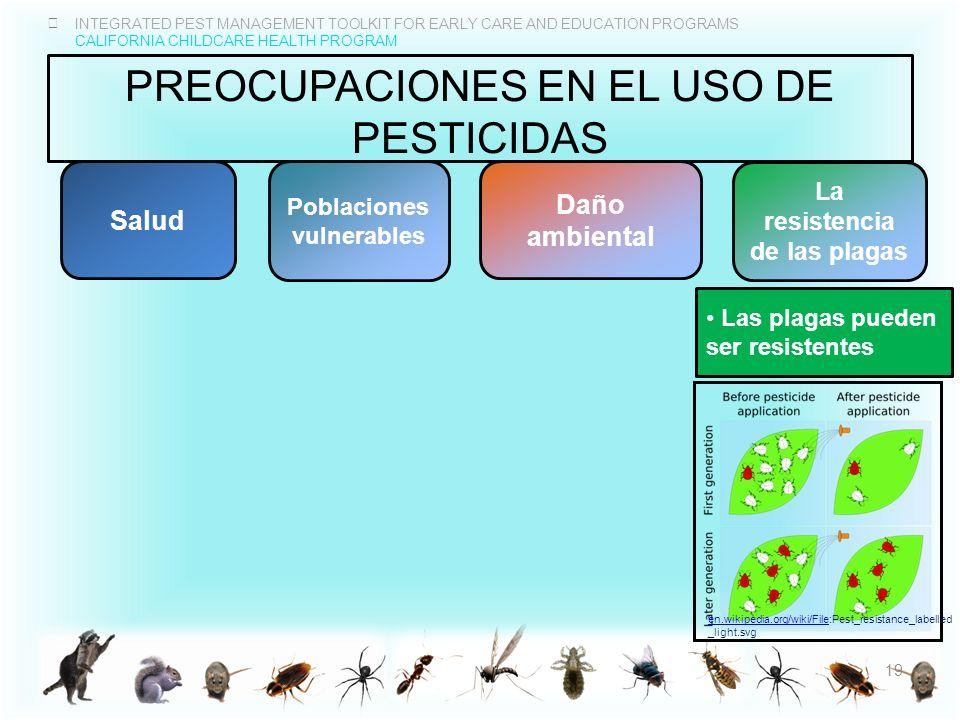 Preocupaciones en el uso de pesticidas