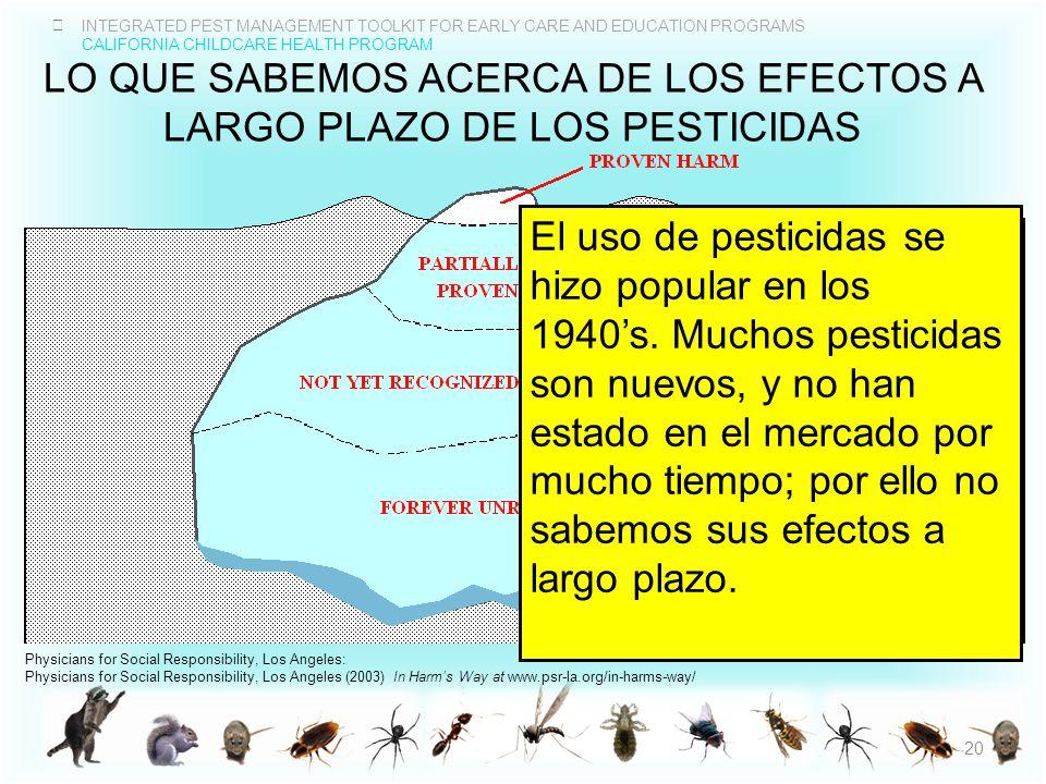 Lo que sabemos acerca de los efectos a largo plazo de los pesticidas
