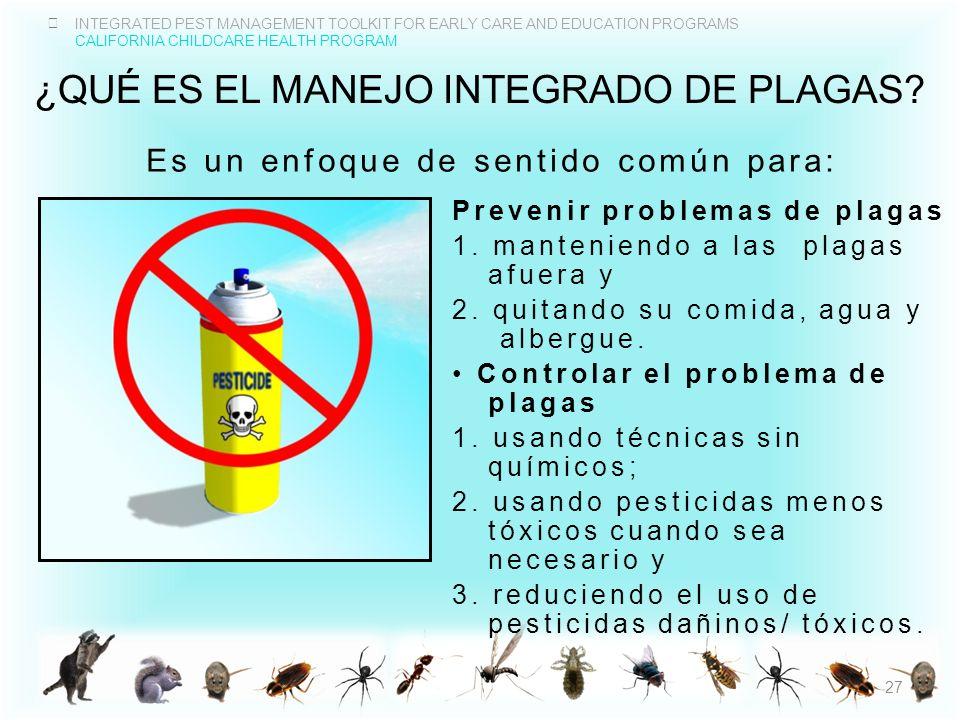¿Qué es el MANEJO integrado de plagas