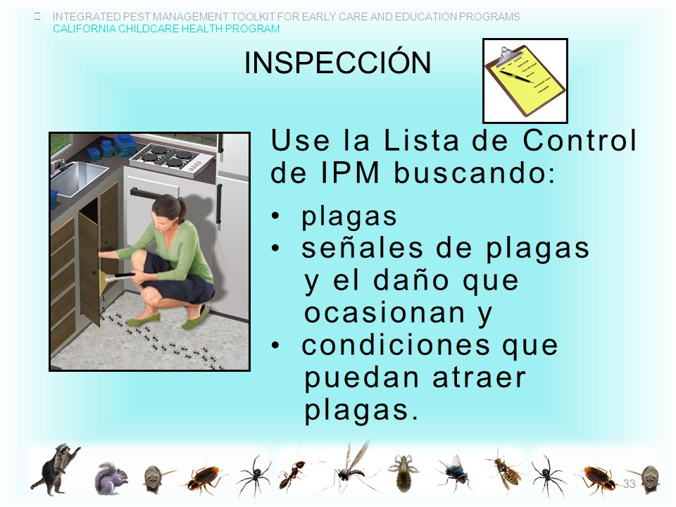 Use la Lista de Control de IPM buscando: