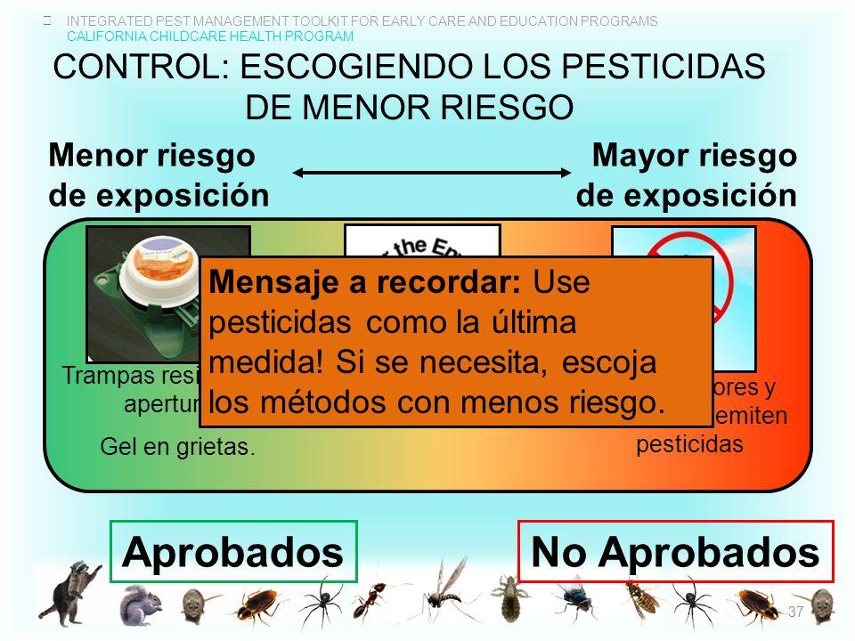 control: escogiendo los pesticidas de menor riesgo