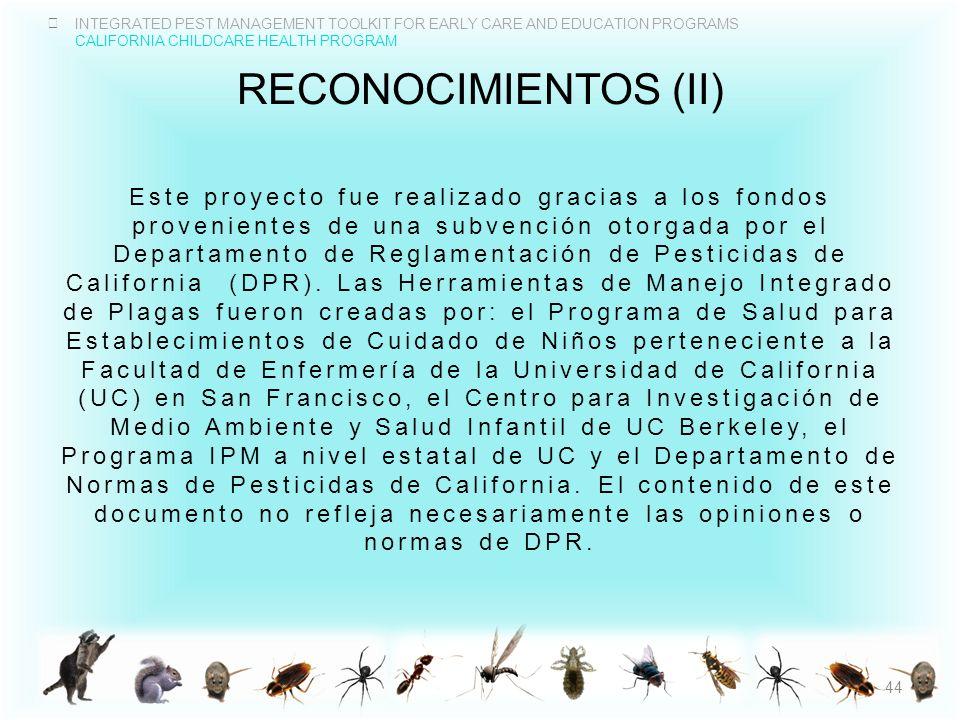 reconocimientos (II)