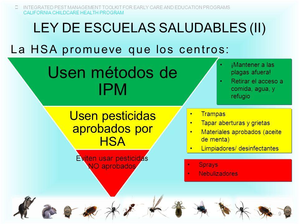 Ley de escuelas saludables (II)