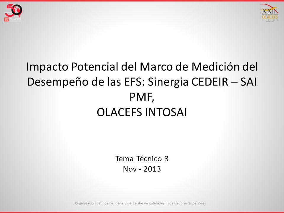 Impacto Potencial del Marco de Medición del Desempeño de las EFS ...