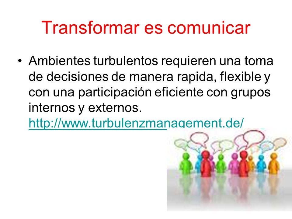 Transformar es comunicar