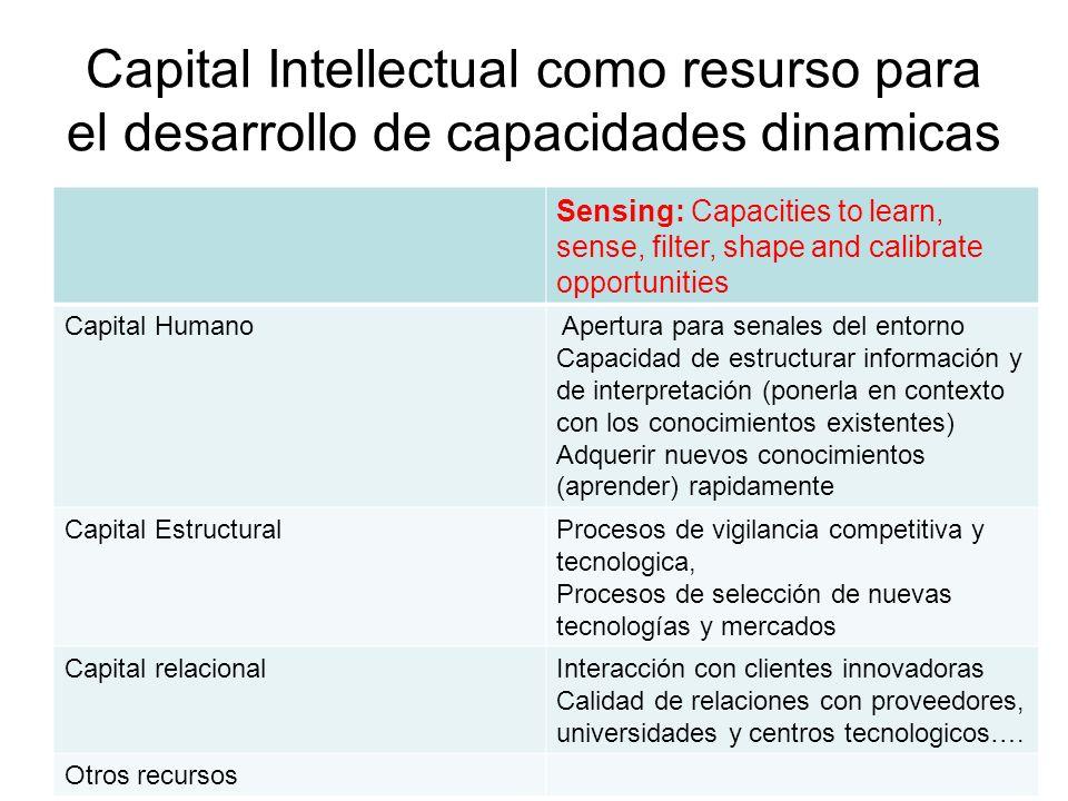 Capital Intellectual como resurso para el desarrollo de capacidades dinamicas