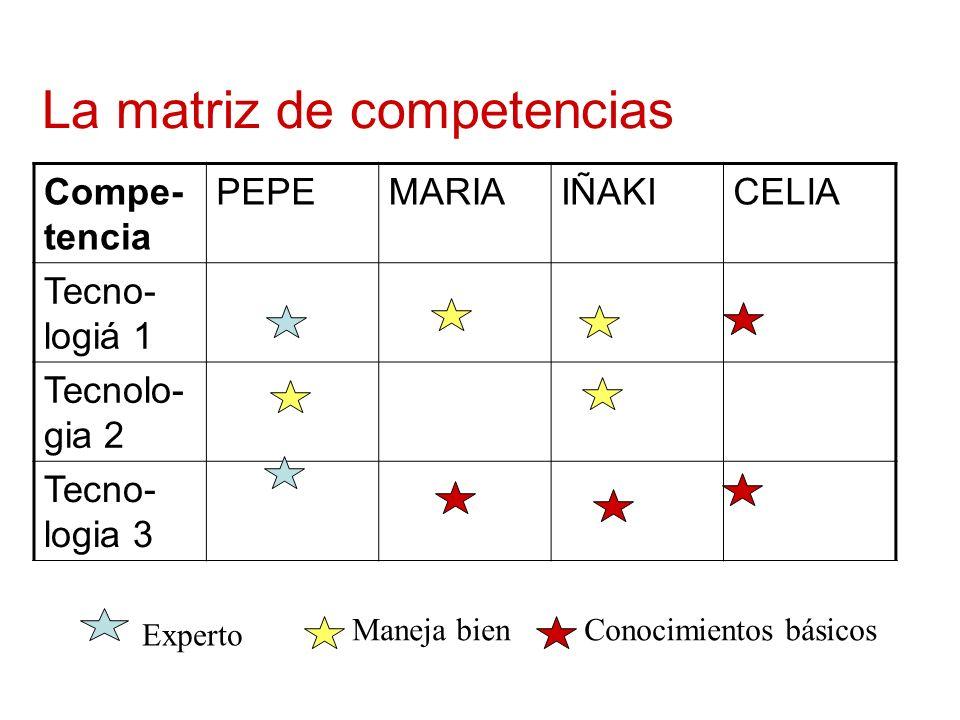 La matriz de competencias