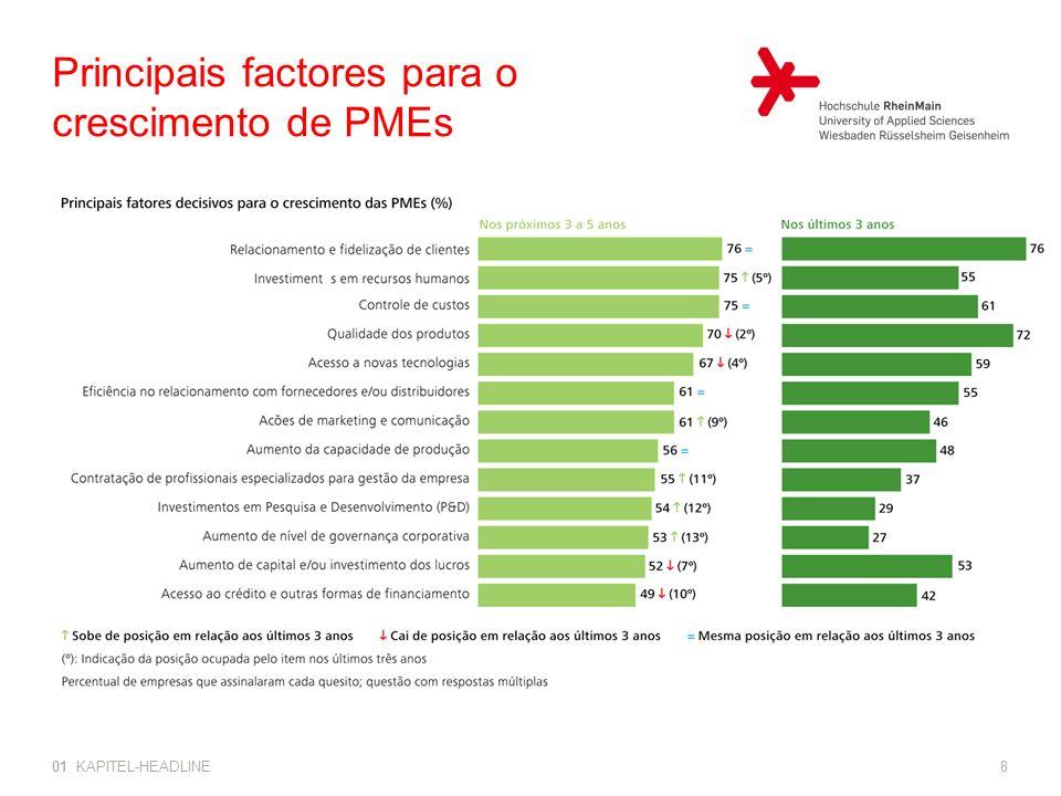 Principais factores para o crescimento de PMEs