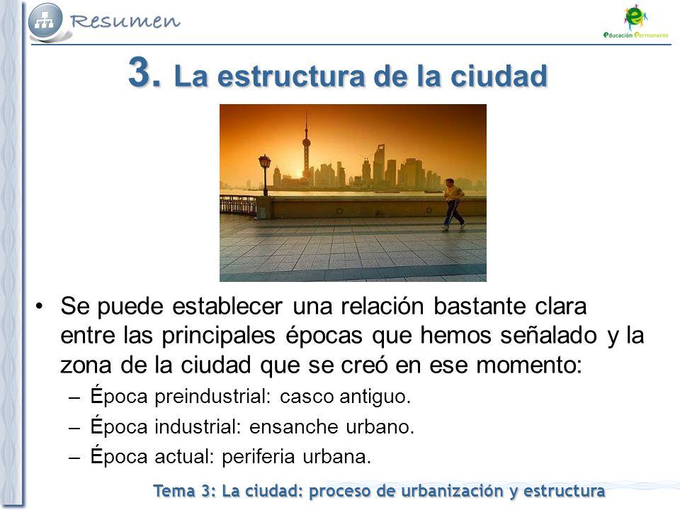 3. La estructura de la ciudad