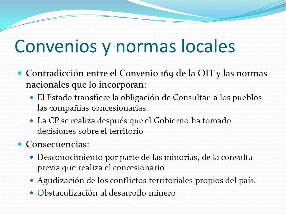 Convenios y normas locales